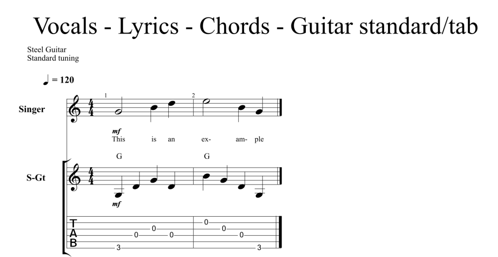 Guitar guitar lyrics : options – Custom Music Transcription | Custom Guitar Transcription